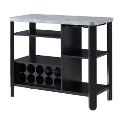 Wine Rack - Cement and Black