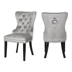 Laura Suede Fabric Dining Chair - 2 Per Box  (Multiple Colours Available)