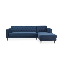 Julia Suede Fabric Left Hand Facing Sectional